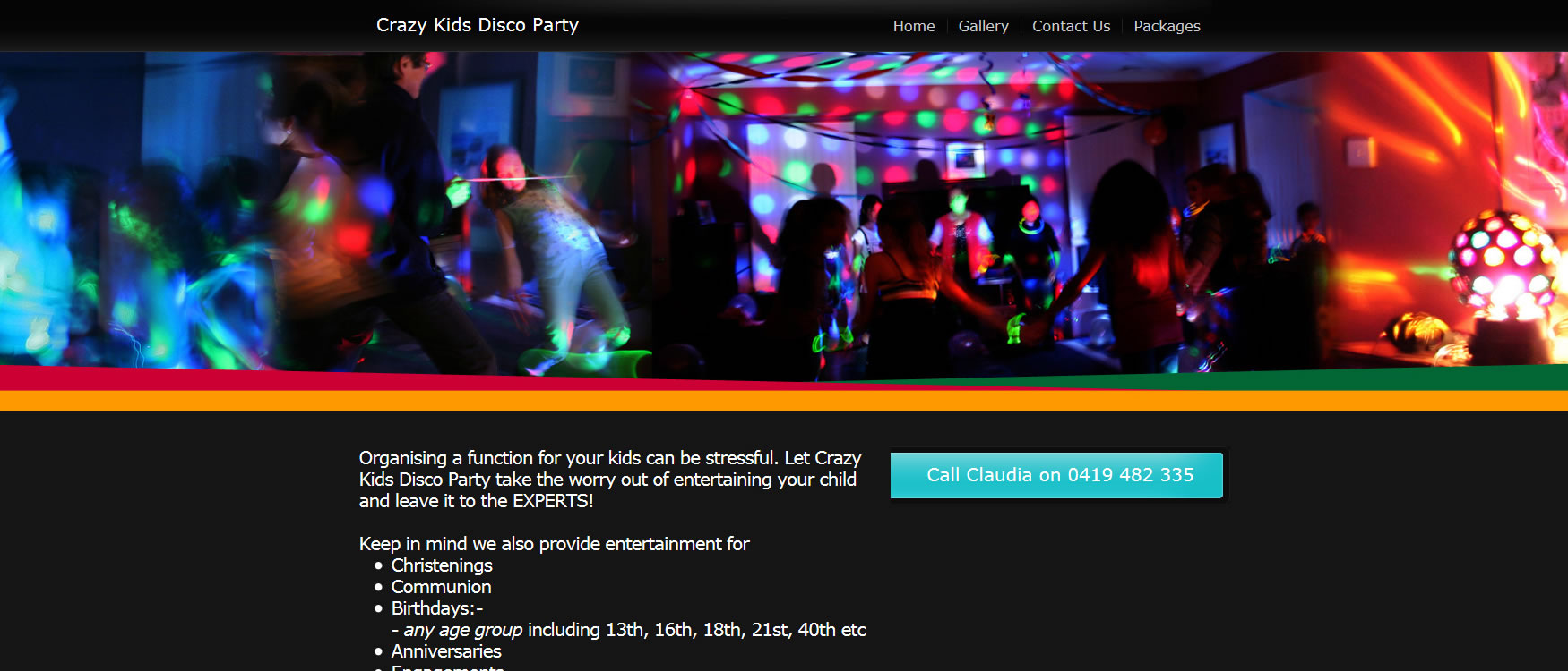 Crazy Kids Disco Party